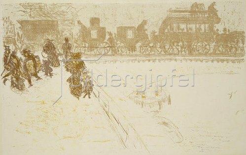 Pierre Bonnard: Le pont. (Die Brücke)