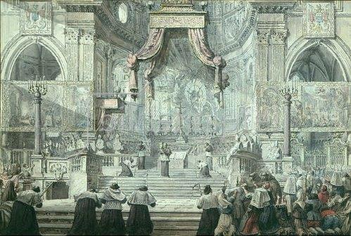 Louis-Jean Desprez: Das Blutwunder des Hl. Januarius in der Kathedrale von Neapel.