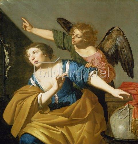 Jan van Bylert: Maria Magdalena bekehrt sich zu Christus.
