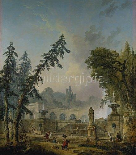 Hubert Robert: Parklandschaft. 1773.