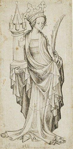 Unbekannter Meister: Heilige Barbara. Nürnberg, um 1410/20
