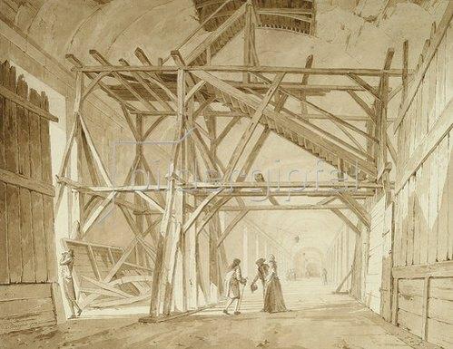 Constant Florent Fidèle Bourgeois: Die Große Galerie im Louvre. 1791.