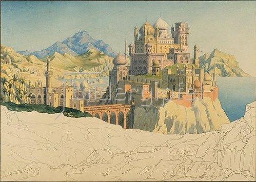 Friedrich Maximilian Hessemer: Vision einer islamischen Stadt. 1830/35