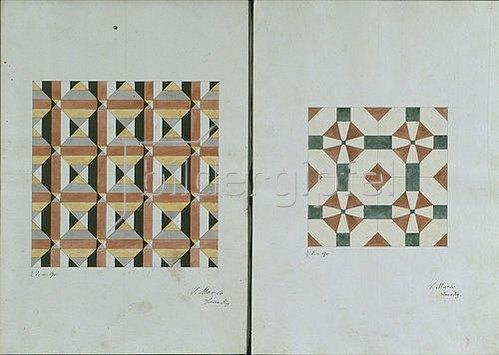 Friedrich Maximilian Hessemer: Mosaiken der Markuskirche in Venedig. 1838. 2 Blätter (oben)