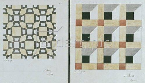 Friedrich Maximilian Hessemer: Mosaiken der Markuskirche in Venedig. 1838. 2 Blätter (unten).