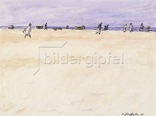 Jakob Nussbaum: Am Strand von Port Said. 1925.