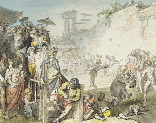 Johann Heinrich Ramberg: Ballspiel in Rom. 1797.