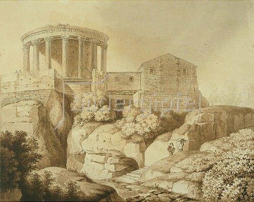 Wilhelm Friedrich Gmelin: Der Sybillentempel in Tivoli.