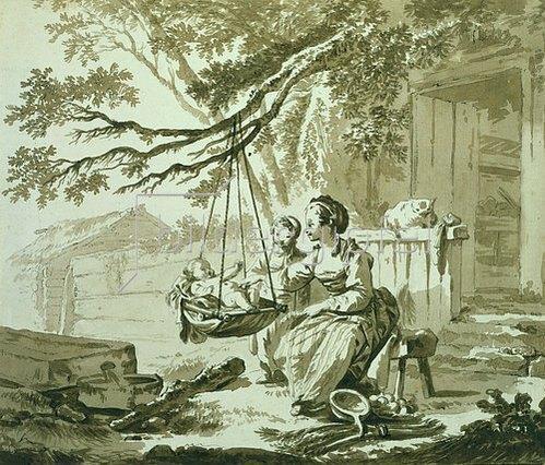 Jean Baptiste Le Prince: Le Berceau. (Die Wiege).