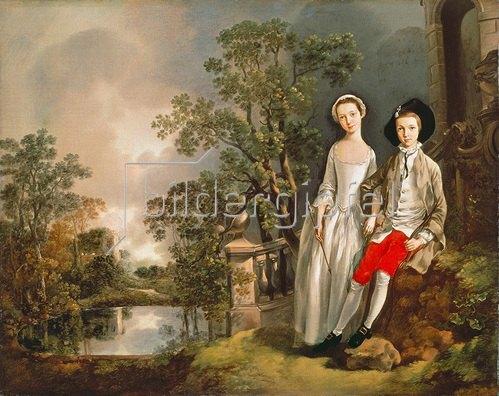 Thomas Gainsborough: Heneage Lloyd und seine Schwester.