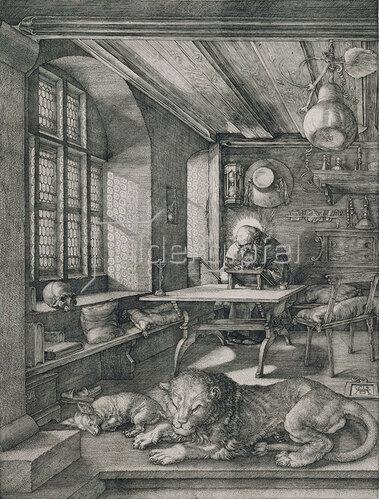 Albrecht Dürer: Hieronymus im Gehäuse. 1514