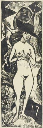Ernst Ludwig Kirchner: Akt mit schwarzem Hut. 1912
