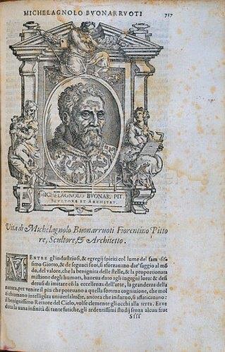 Cristoforo Coriolano: Bildnis Michelangelo Buonarroti, 1568