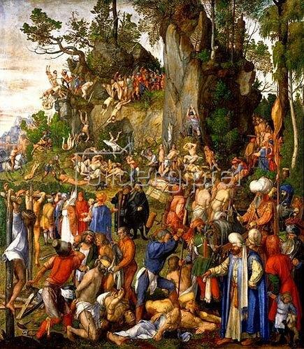 Albrecht Dürer: Marter der zehntausend Christen unter Hadrian und Antonius (oder Diokletian).