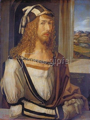Albrecht Dürer: Selbstbildnis mit Landschaft. 1498