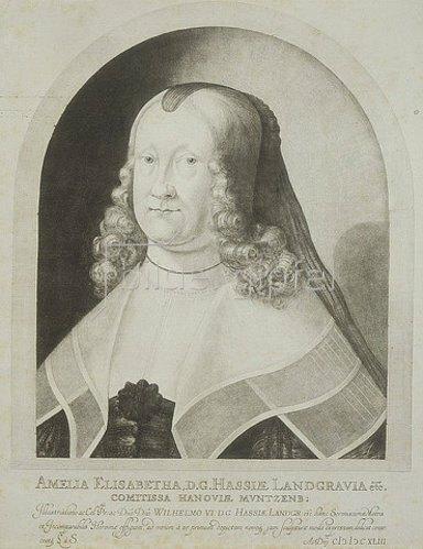 von Ludwig Siegen: Landgräfin Amalia Elisabeth von Hessen-Kassel, 1642