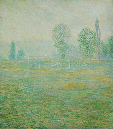 Claude Monet: Wiesenlandschaft bei Giverny im Morgenlicht. 1888.