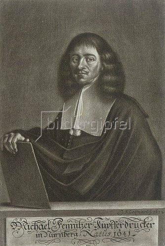 Johann Friedrich Leonart: Portrait des Nürnberger Kupferdruckers Michael Fennitzer. 1672