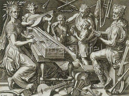 Cornelis Cort: Die Musik. 1565
