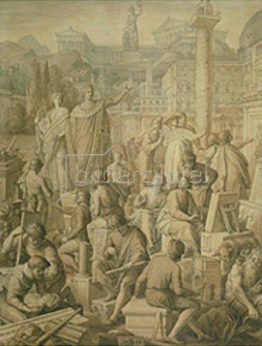 Julius Schnorr von Carolsfeld: Ludwig I. beruft die in Rom weilenden deutschen Künstler nach München. 1850.