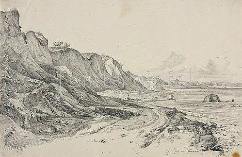 Friedrich Nerly (Nehrlich): Das Brodtener Ufer bei Travemünde. 1826