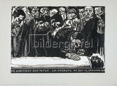 Käthe Kollwitz: Gedenkblatt für Karl Liebknecht. 1920