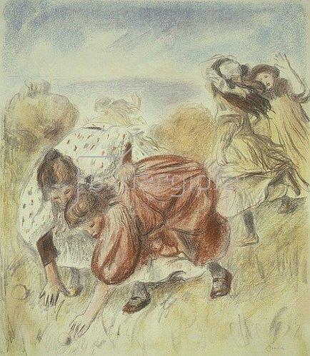 Auguste Renoir: Ballspielende Kinder. Um 1900
