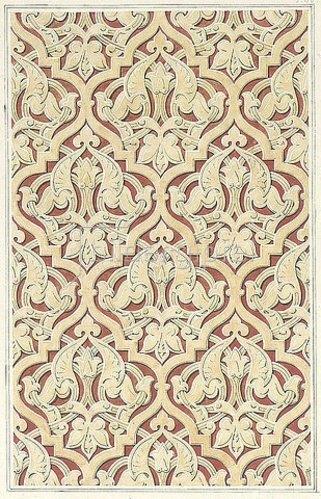 Friedrich Maximilian Hessemer: Wandfläche an dem Grabgebäude des Emir Kebir bei Kairo. Arabische und Alt-Italienische Bau-Verzierungen, Entwurf für Tafel I.40