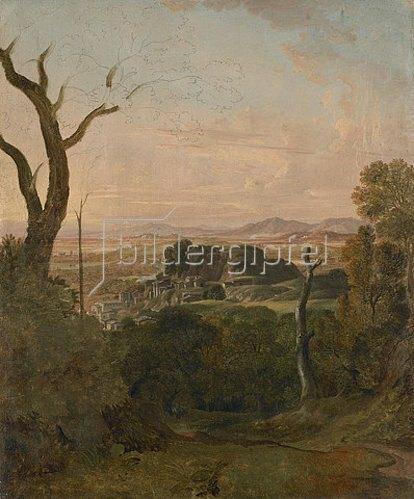 Carl Ludwig Kaaz: Römische Landschaft bei Tivoli.