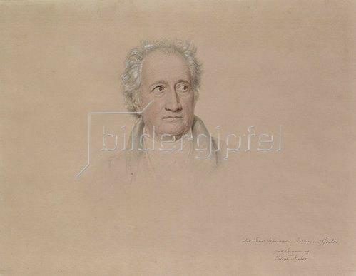 Joseph Karl Stieler: Bildnis Johann Wolfgang von Goethe. 1828.