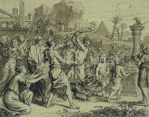 Bernard Picart: Fabelillustration: Die Götter Ägyptens
