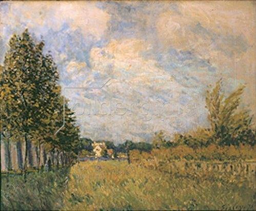 Alfred Sisley: Zu Füßen des Aquädukts von Louvecienne. 1876.