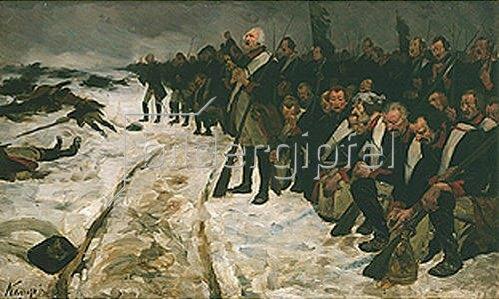 Arthur Kampf: Choral von Leuthen. Gegen 1887.