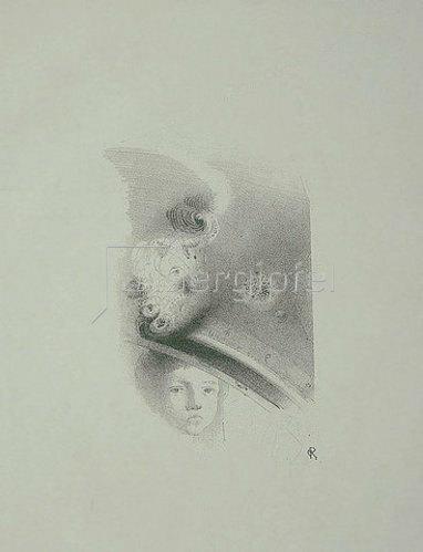 Odilon Redon: Planche d'Essai (Studienblatt).