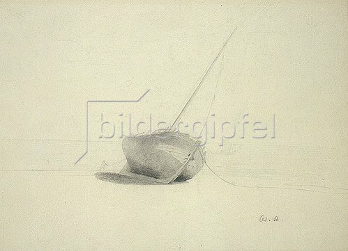 Odilon Redon: Schiff am Strand.
