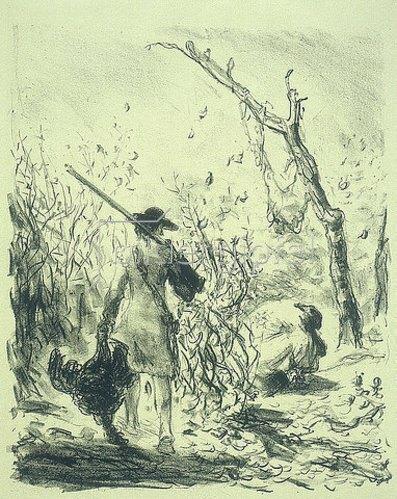 Max Slevogt: Illustration zu Lederstrumpf: Pfadfinder blickt auf die weinende Junitau. 1908/09