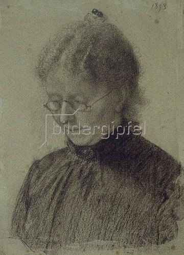 Otto Franz Scholderer: Portrait Luise Scholderer. 1893.