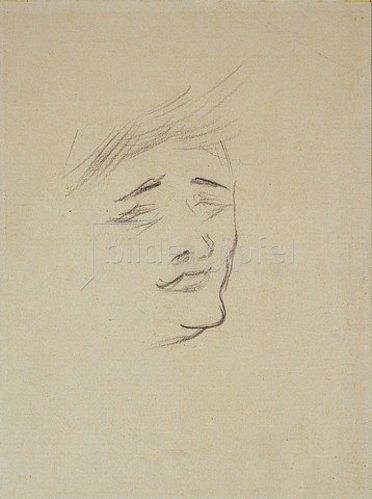 Henri de Toulouse-Lautrec: Frauenkopf (Lenda).