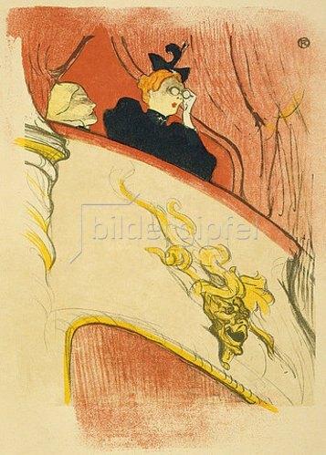 Henri de Toulouse-Lautrec: Die Loge mit der goldenen Maske (La loge au mascaron doré). 1893