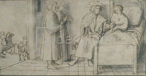 Peter d. J. Visscher: König Peter von Aragonien und die Schöne Lisa (Boccaccio, Decamerone X,7).