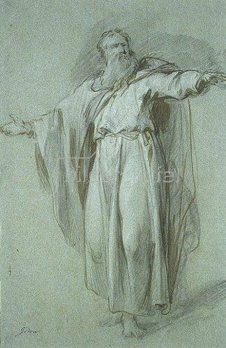 Jacob de Wit: Figurenstudie: Moses.