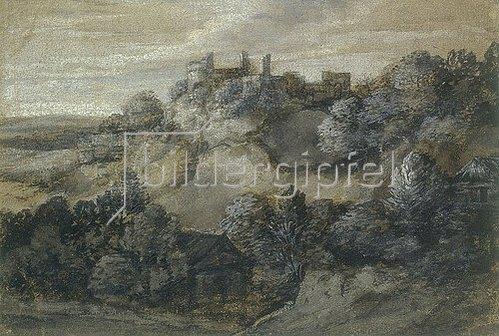 Pieter de With: Felslandschaft mit Ruine.