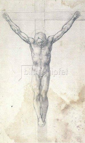 Michelangelo: Christus am Kreuze.