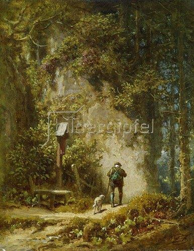 Carl Spitzweg: Jäger im Wald.