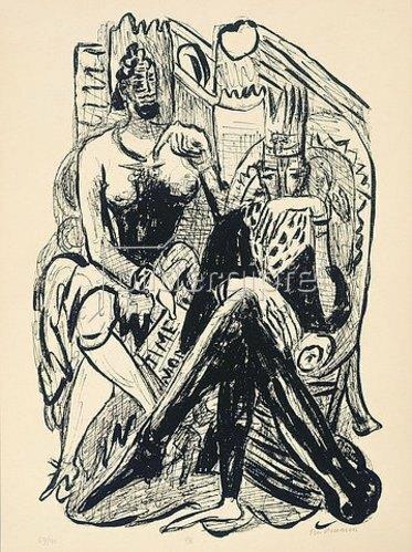 Max Beckmann: Day and Dream, Blatt VIII - King and Demagogue (König und Demagoge).