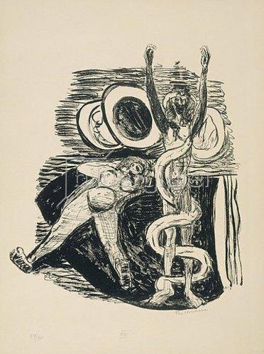 Max Beckmann: Day and Dream, Blatt XIV - The Fall of Man. (Sündenfall).