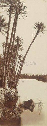 Rudolf Franz Lehnert: Araber am Flussufer. 1910