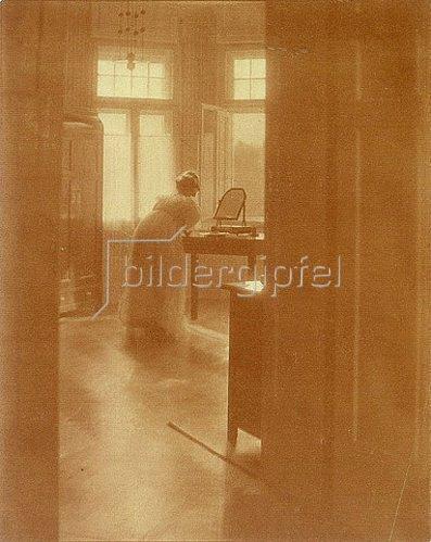 Heinrich Kühn: Morgentoilette. 1907.
