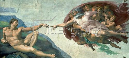 Michelangelo: Sixtinischen Kapelle: Die Erschaffung des Adam. 1510