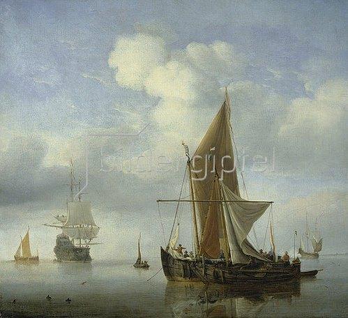 Willem van de Velde d.J.: Ruhige See.